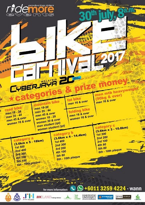 The Cyberjaya Bike Carnival 2017 - Race Connections