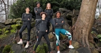 Sonia O'Sullivan with the four athletes who are participating in the new Accelerator Academy Sophie O'Sullivan, Patience Jumbo-Gula, Sarah Healy and Rhasidat Adeleke. Photograph Marc O'Sullivan - Race Connections